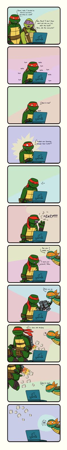 Tmnt Learning with Raph about turtles by Dragona15.deviantart.com on @deviantART