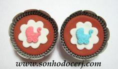 Cupcakes Chá de bebê! curta nossa página no Facebook: www.facebook.com/sonhodocerj