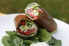 Food and Yoga for Life: Raw Ranch Veggie Wraps Raw Vegan Recipes, Veggie Recipes, Indian Food Recipes, Whole Food Recipes, Healthy Recipes, Vegan Food, Paleo, Raw Wraps, Vegan Wraps