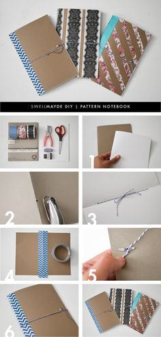 swellmayde: DIY | PATTERNED NOTEBOOK