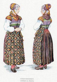 Svärdsjö, Dalarna.  This is wild, but it's unusual in that the kerchief is worn under the bodice.  Kinda weird, I think.
