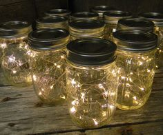 lighting in a jar. Create The Appearance Of Fireflies In A Jar With This Unique Light Display That Creatively Combines Strand Warm White Battery Operated LED Fairy Lights Lighting Y