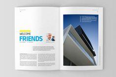 Architecture magazine template by Jumadi M. Nur, via Behance