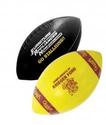 These plastic mini footballs are great for football teams to raise money for their team or school booster club. You can have your business logo or school mascot printed on the mini football.