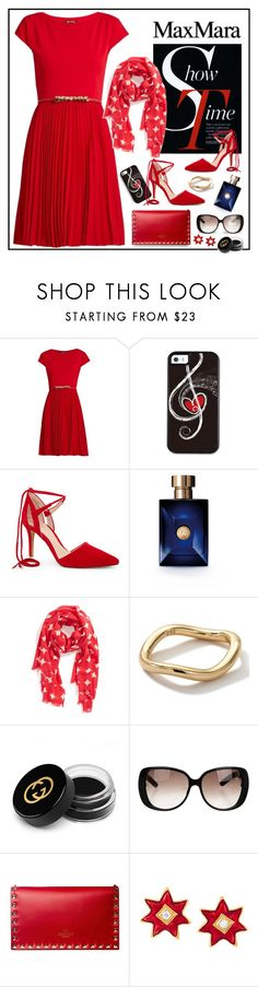 """Max Mara"" by ladychatterley ❤ liked on Polyvore featuring MaxMara, Vince Camuto, Versace, Kate Spade, Ippolita, Gucci and Christian Lacroix"