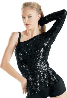 One Sleeve Sequin Performance Tunic | Balera™