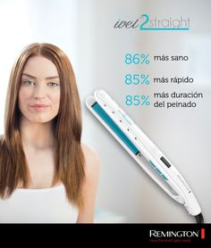 Húmedo o seco, usa Wet2Straight en cualquier momento y luce tan fashion como quieras. #Remington #woman #trendy