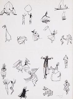 Carybé , desenhos folclore Brasil