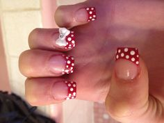 Disney nails like Minnie Mouse