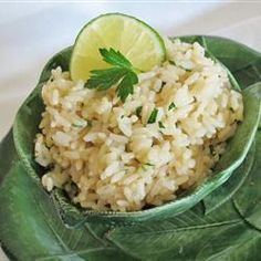Lime Rice Pilaf - Recipe from Food Network