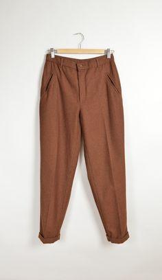 Vintage Benetton high waist wool pants #modern #minimalist #glorywild