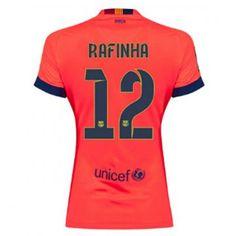 31e4d5d3e785e Equipacion Rafinha Barcelona Mujer segunda 2014-2015 Camisetas