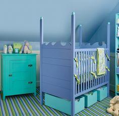 aqua,blue,lime baby nursery