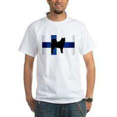 finnish spitz silhouette flag T-Shirt > Finnish Spitz > Paw Prints