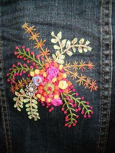 veste en jeans brodée - Je Brode on Line Facile!!