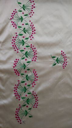 19 Trendy Embroidery Designs Machine Embroidery Design Machine On Suits Embroidery On Kurtis, Hand Embroidery Videos, Sewing Machine Embroidery, Hand Work Embroidery, Simple Embroidery, Free Machine Embroidery Designs, Embroidery Jewelry, Embroidery Suits, Border Embroidery Designs