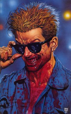 Preacher cover by Glenn Fabry. Oh, Preacher. The most messed up and hilarious comic ever.