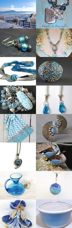 "See lovely blue gifts from the SHP, Team123 & STATTeam in my latest Etsy Treasury, ""Blue Skies!"" by Eloise Powell on Etsy--Pinned with TreasuryPin.com The direct link to my shop is: https://www.etsy.com/shop/AdornmentsByEloise?ref=hdr_shop_menu Thanks, Eloise ***AdornmentsByEloise***"