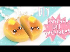 Kawaii Pancake Friendship Charms polymer clay tutorial
