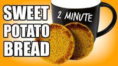 2 MINUTE SWEET POTATO PALEO BREAD RECIPE | Microwave Sweet Potato Bread Recipe In A Mug - YouTube