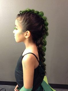 Dinosaur or Dragon Braid #kariethehairfairy