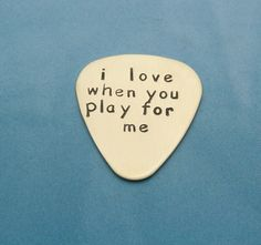 Personalized guitar picks make unique gifts for musicians and music lovers., Personalized guitar picks make unique gifts for musicians and music lovers. This hand stamped pick is made of NuGold, which is a brass mixed with a . Birthday Present For Boyfriend, Birthday Presents For Men, Anniversary Boyfriend, Presents For Boyfriend, Birthday Gift For Him, Diy Birthday, Boyfriend Gifts, Anniversary Gifts, Birthday Ideas