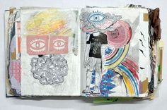 Sketchbook and watercolor ideas - inspiration for keeping a travel journal, art journal, or scrapbook