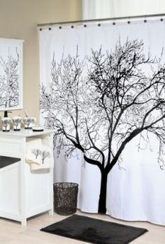 Splash-Home-Shower-Curtain-70-by-72-Inch-Tree-Black-0