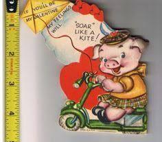 Image result for Pig vintage valentine