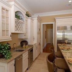 Antique White Cabinets Design, Pictures, Remodel, Decor and Ideas, Linen White cabinet color.