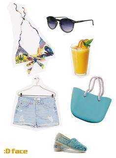 :Dface ¡Combina tus gafas de sol y complementos :Dface! Gafas de sol efecto madera y bolso de caucho turquesa :D http://www.dface.es/products/dface-ngapali-gw