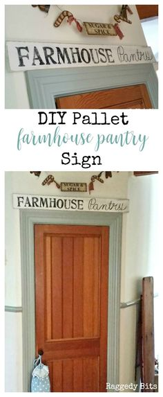 This would have to be one of my most favorite pallet projects yet! See my full tutorial on how to make your very own Pallet Farmhouse Pantry Sign.
