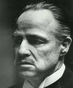 Marlon Brando, as the Godfather Don Corleone