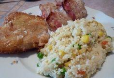 Pangasius variációk zöldséges kuszkusszal Fried Rice, Bacon, Grains, Favorite Recipes, Meals, Ethnic Recipes, Food, Power Supply Meals, Meal
