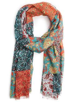 MANGO - TOUCH - Patchwork print foulard
