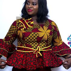 latest ankara skirt and blouse skirt and blouse style for wedding,latest ankara short skirt and blouse styles 2018 African Dresses For Kids, Latest African Fashion Dresses, African Print Fashion, Ankara Short Gown Styles, African Blouses, Ankara Skirt And Blouse, African Attire, Plus Size Womens Clothing, Traditional Outfits