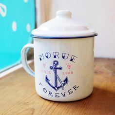 mug émail Morue forever
