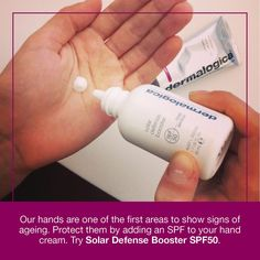 TOP Anti-Ageing Hand Care Tip! Discover Dermalogica Solar Defense Booster today - http://www.facialcompany.com.au/Shop/file/Product/cat/118/pid/3667/brand/7/Dermalogica-Solar-Defense-Booster-Spf50.htm