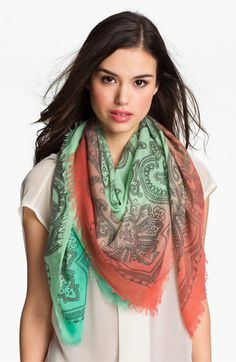 Jessica Simpson Dip Dye Paisley Scarf available at #Nordstrom