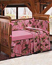 Baby Pink Camo Crib Set - 4 Piece Set - www.fortwestern.com