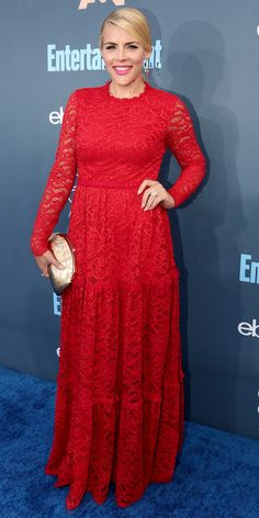 All the Glam Red Carpet Looks from the Critics' Choice Awards - Busy Philipps from InStyle.com