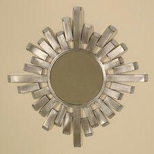 $122 Silver White Sunburst Mirrors | Wayfair