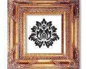 Damask black on white cross stitch pattern by Pickle Lady Farm. Some amazing patterns here!