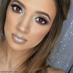 "Beauty by Toria used NYX Prismatic Eyeshadow in the shade ""Mermaid"" on her lips and eyes. #nyx #prismatic #makeup"