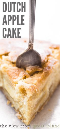 Every bite of this Dutch Apple Cake is sweet and juicy thanks to a no fail cake batter, layers of thinly sliced Honeycrisp apples, and a touch of spice. Best Apple Recipes, Apple Dessert Recipes, Easy Desserts, Fall Recipes, Favorite Recipes, Dutch Desserts, Keto Desserts, Dutch Recipes, Cooking Recipes