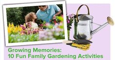 Gardening brings the whole family together! Check out our Top 10 Family Gardening Activities for fun ideas indoors and out! #NationalGardenMonth