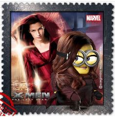 X-Men: Days of Future Past ~ Phoenix Minions Cartoon, Minion Art, Minion Meme, Minions Despicable Me, Minions Quotes, Minions 2014, Superhero Movies, Marvel Movies, Minion Dress Up