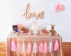 7115b2e60e19 Makes Me Bush Bridal Shower Decoration Kit. Blush Pink and Gold ...