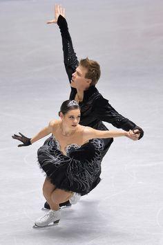 Elena Ilinykh and Nikita Katsalapov of Russia compete in the Ice Dance free program during day three of ISU Grand Prix of Figure Skating  20...