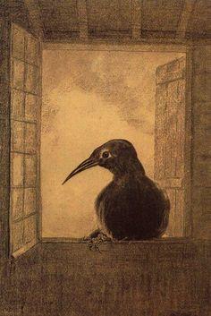 Odilon Redon. Le Corbeau, 1882.